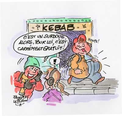 Kebab à moitié prix contre bonne note scolaire !