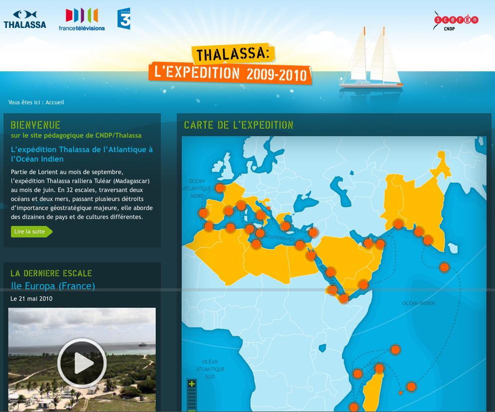 Les élèves sur les traces de l'expédition Thalassa