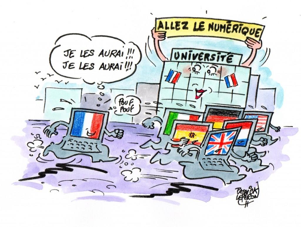 Le numérique à l'université : bravo la France !
