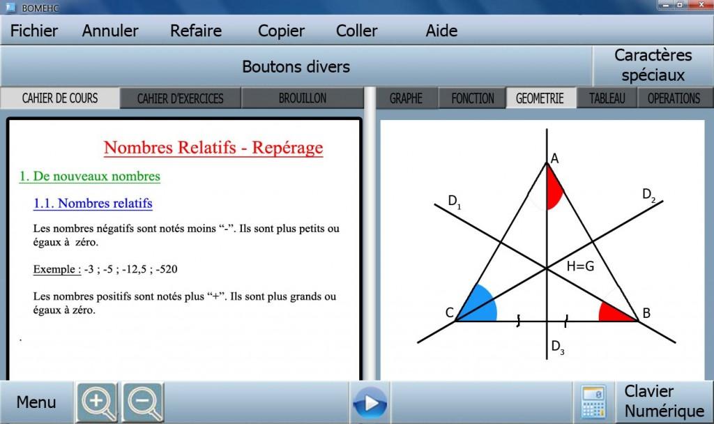 Bomehc : un logiciel de mathématiques pour le collège, gratuit et polyvalent