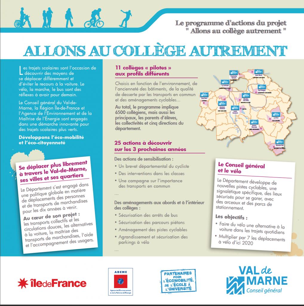Val-de-Marne : les collégiens roulent pour l'éco-mobilité