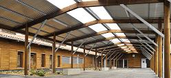 Développement durable dans un collège en pin des Landes…