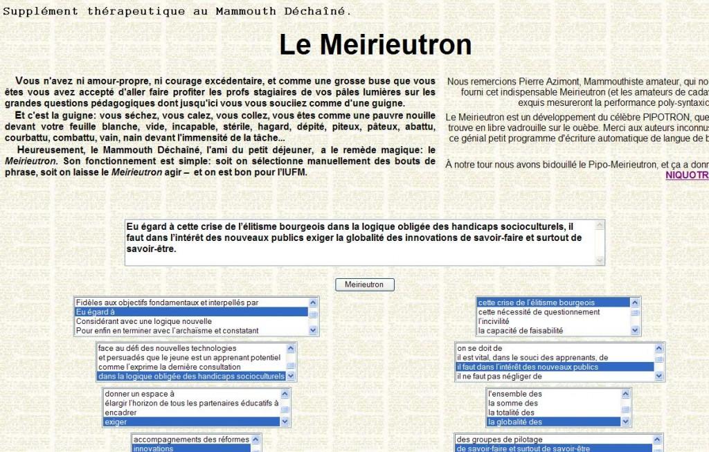 Le Meirieutron