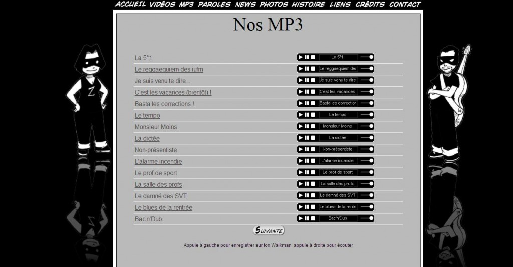 La vie de prof en MP3