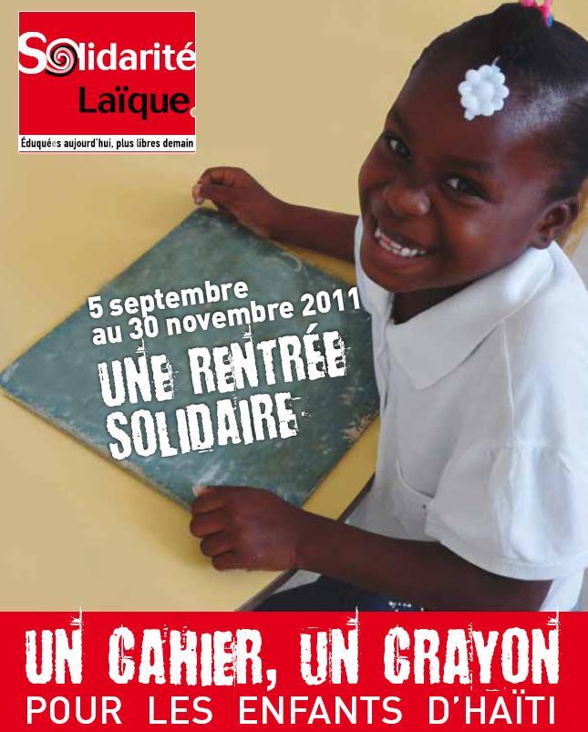 Opération «Un cahier, un crayon» pour les enfants d'Haïti