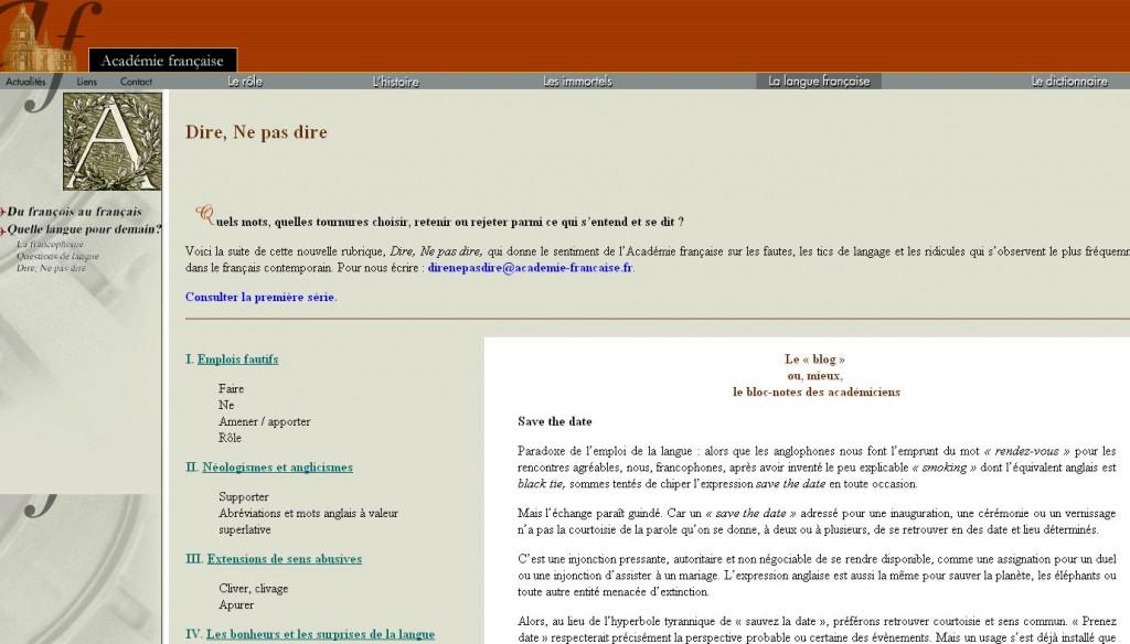 L'Académie française s'attaque aux tics de langage