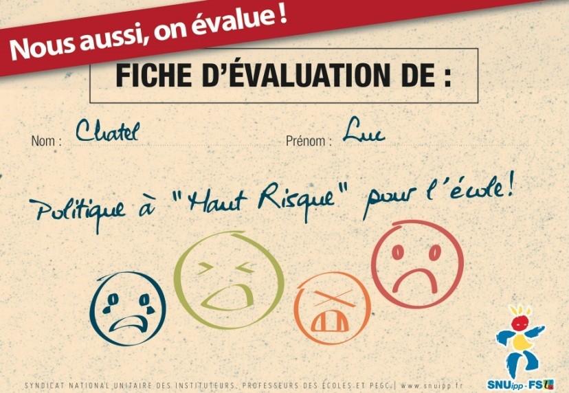 Luc Chatel évalué à son tour par les enseignants !