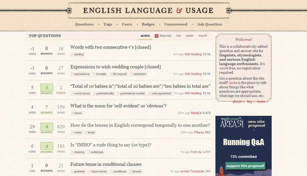 La langue anglaise en questions-réponses