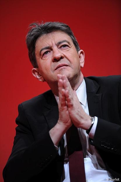 Jean-Luc Mélenchon lors du meeting de Villeurbanne, le 7 février 2012