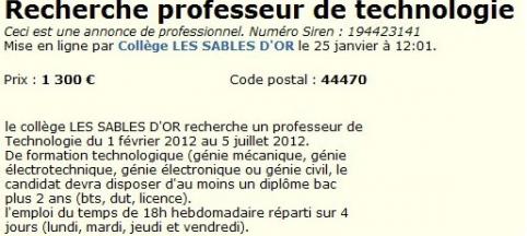 Professeurs recrutés sur Leboncoin : le rectorat «déconseille totalement» cette pratique