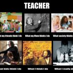 Teacher What my friends think I do