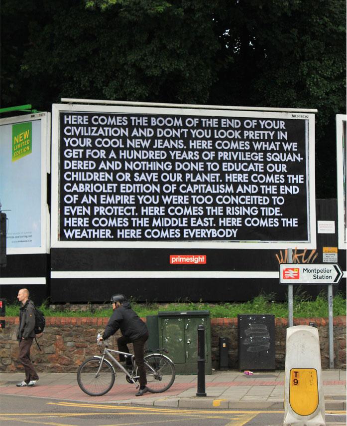 Robert Montgomery : de la poésie sur panneaux publicitaires