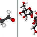 Représentation des molécules glycolaldéhyde et saccharose