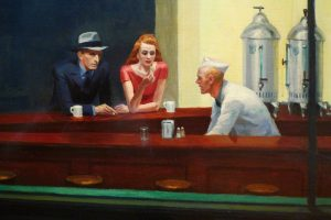 Nighthawks tableau Edward Hopper 1942 detail