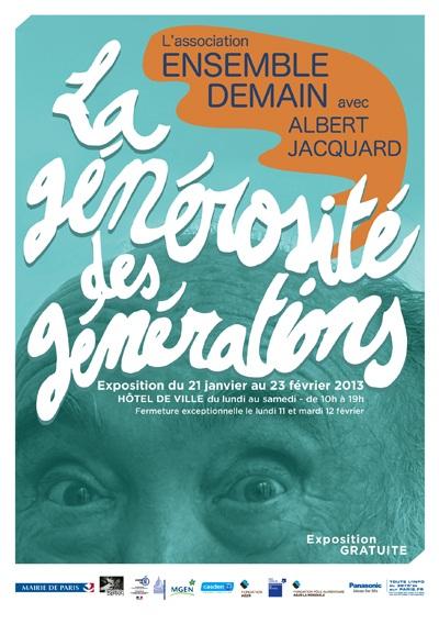 «La générosité des générations» : ouverture de l'exposition aujourd'hui à Paris