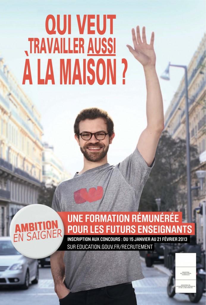 Ambition En Saigner : la campagne décalée de recrutement des enseignants