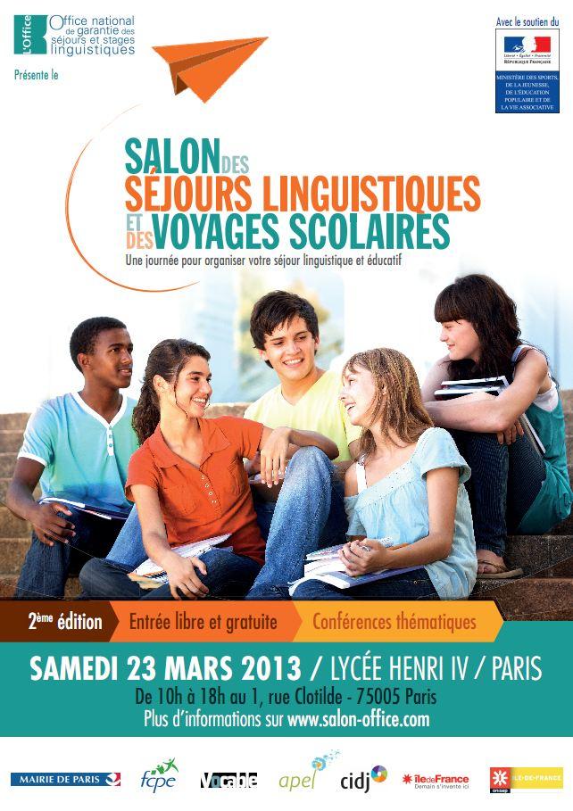 23 mars salon des s jours linguistiques et des voyages scolaires 2013 vousnousils - Salon sejour linguistique ...