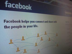 facebook écran page accueil