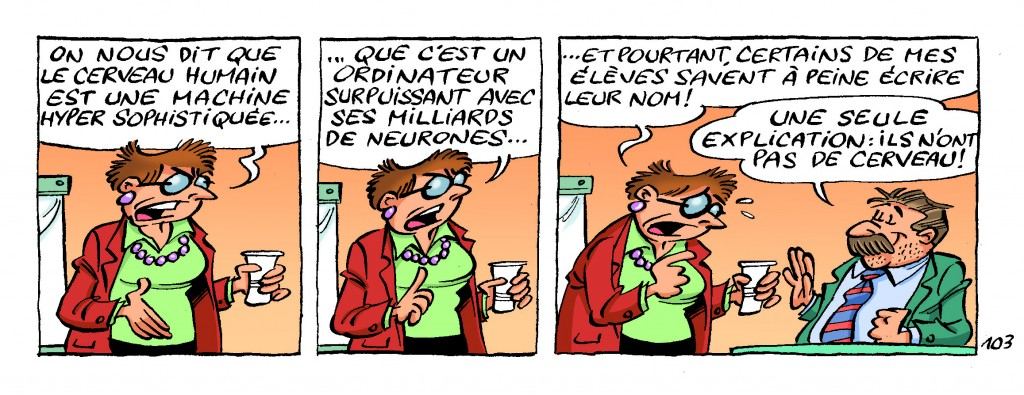 Semaine du cerveau : les élèves des Profs ne seraient pas de bons sujets d'étude !