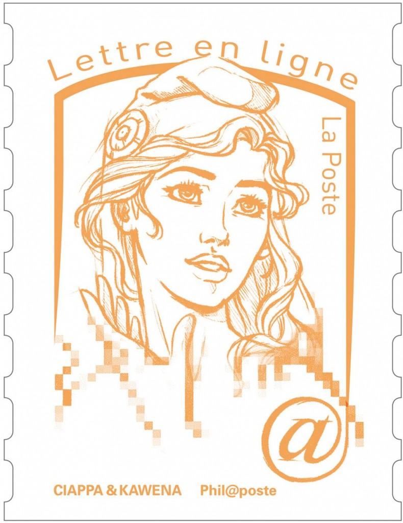 Le nouveau timbre Marianne inspiré par une meneuse des Femen