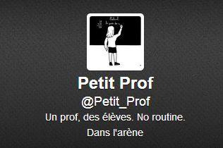 Petit Prof : «j'arrêterai de tweeter quand ça ne m'amusera plus»
