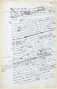 Gustave Flaubert écriture manuscrite