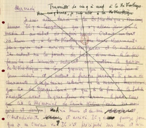 Jean-Paul Sartre écriture manuscrite