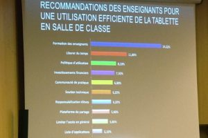 recommandations enseignants tablette classe formation