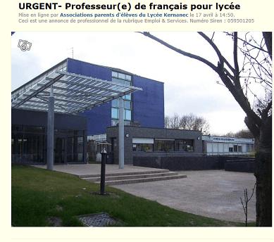 Lille : un professeur de français recruté sur LeBonCoin