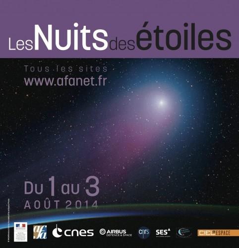 Les comètes en vedettes les 1er, 2 et 3 août 2014 (24èmes Nuits des étoiles)