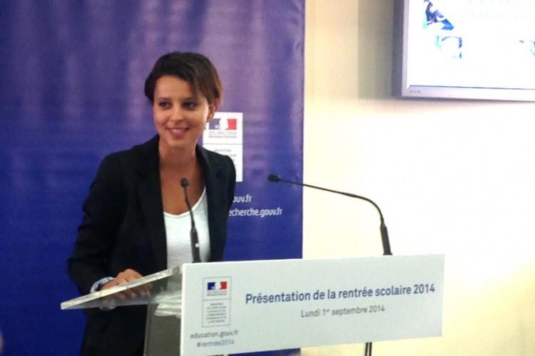 Najat Vallaud-Belkacem : la réforme des rythmes scolaires sera appliquée avec«fermeté»