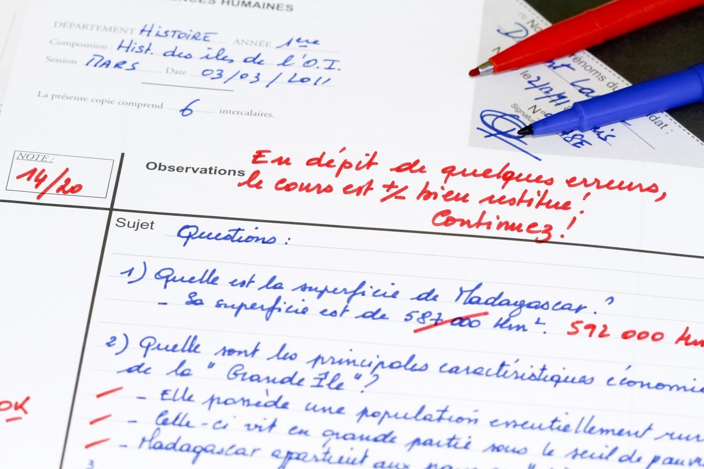 Evaluation des élèves : les parents veulent réduire l'importance des notes
