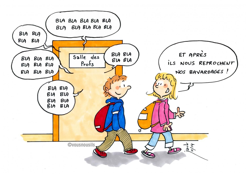 En salle des profs, les enseignants sont plus bavards que les élèves !