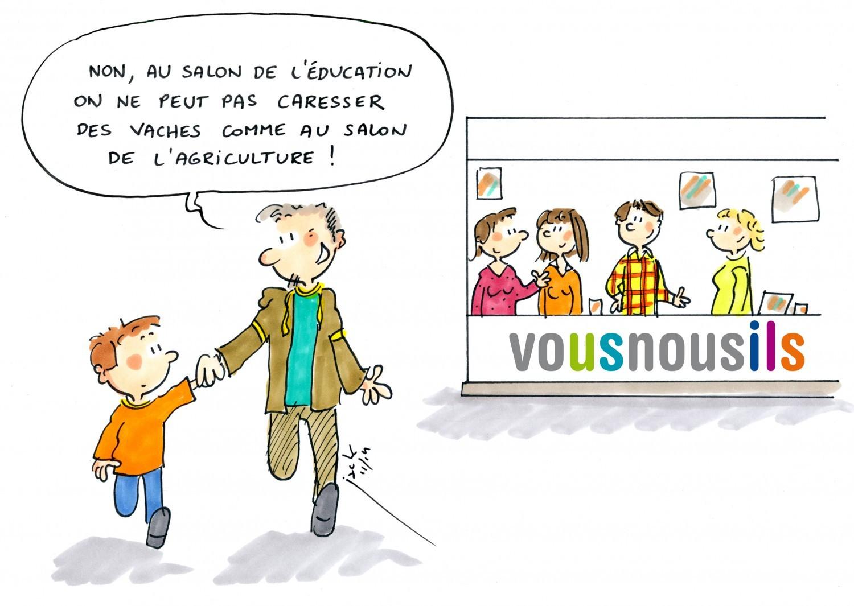Salon de l'éducation : venez rencontrer l'équipe Vousnousils !