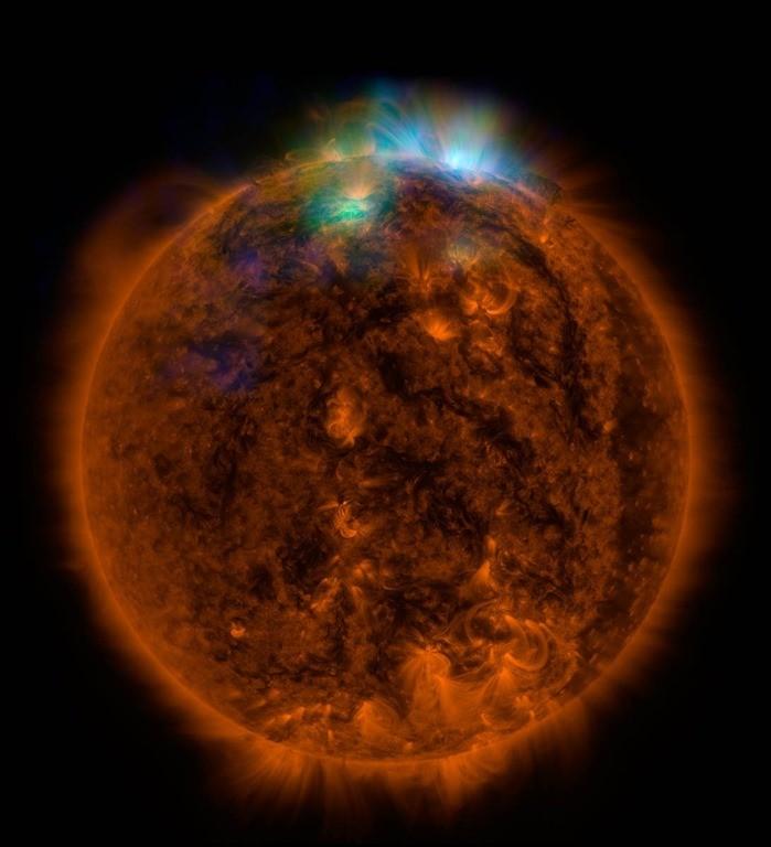 Une image rayons X du Soleil, prise par le télescope à rayons X de la Nasa, NuSTAR / NASA/JPL-Caltech/GSFC