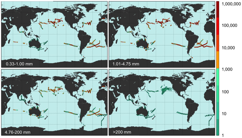 Les océans pollués par 269 000 tonnes de déchets plastiques