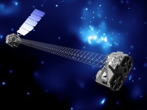 An artist's concept of NuSTAR in orbit. Image credit: NASA/JPL-Caltech