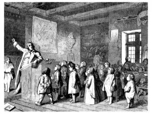 School Scene - 17th century © Erica Guilane-Nachez - Fotolia