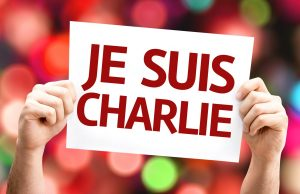 I am Charlie (In French) card with colorful background © gustavofrazao - Fotolia