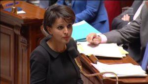 Najat Vallaud-Belkacem, lors des questions au gouvernement, le 14 janvier 2015.