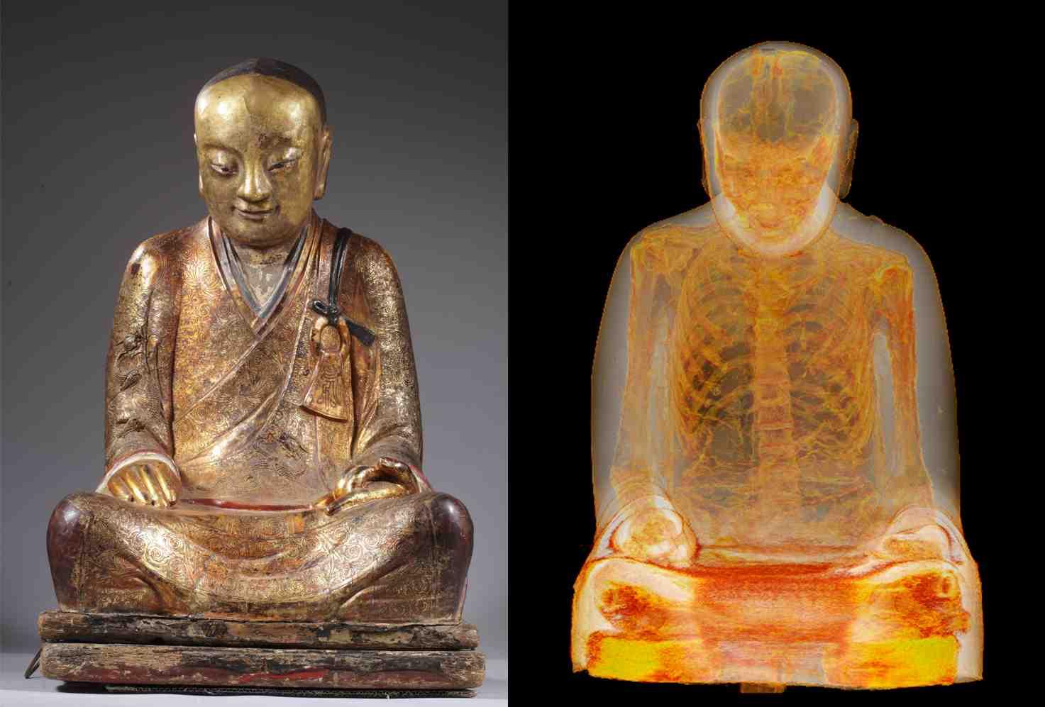 Une statue chinoise de Bouddha passée au scanner révèle la présence d'une momie