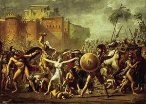 Louis David, les Sabines arrêtant le combat entre les Romains et les Sabins