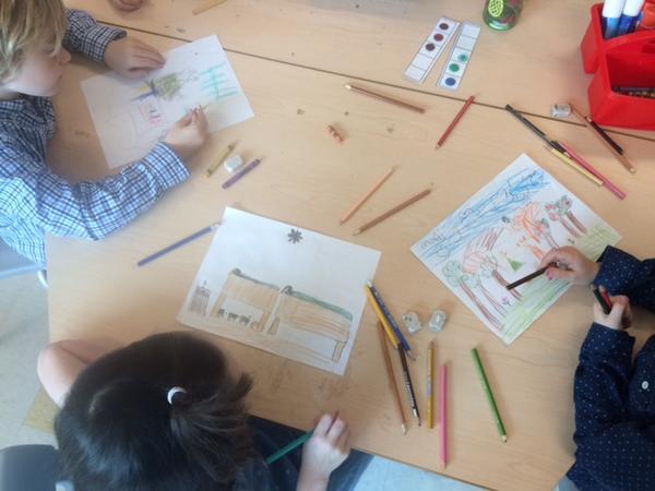 Les élèves de @classe_Anabelle ; classe de première année (CP) à l'école Spring Park de Charlottetown (Canada).