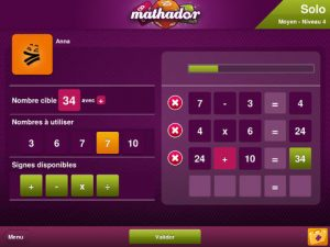 L'application Mathador