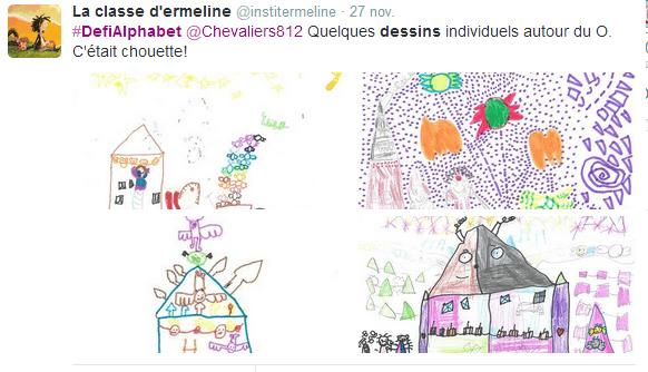 Ilustrations de la Twittclasse @institermeline
