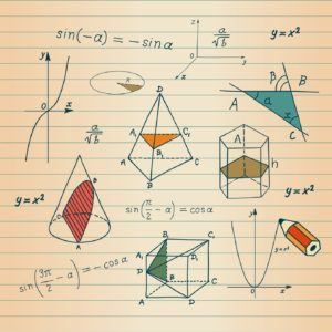Mathematics - geometric shapes and expressions sketches © Millisenta
