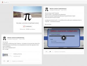Nicolas Lemoine est en contact avec ses élèves grâce à Google +. Il interagit aussi en ligne avec eux via Facebook.