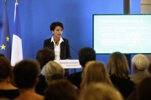 Najat Vallaud-Belkacem lors de sa conférence de rentrée 2015 / Ministère de l'Education nationale