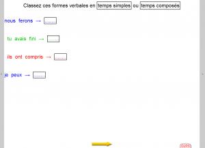 """Exemple d'exercice de conjugaison / Manuel adapté / A partir du manuel """"Etude de la langue 6e"""", Bordas, 2009."""