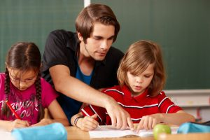 jeune prof classe de primaire